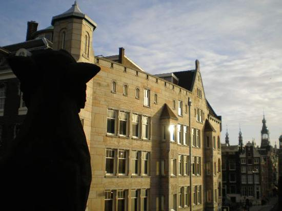 Hotel Pax: A view from the balcony (and the gargoyle :) )