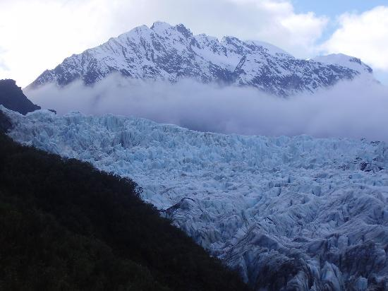 The base of Fox Glacier before you hike through the forest to get there.