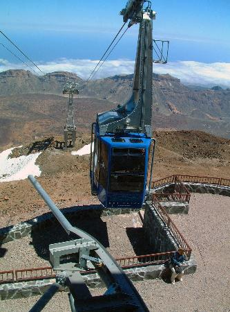 Tenerife, Spain: The cablecar terminus