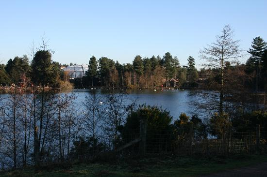 Rufford, UK: The main lake and dome