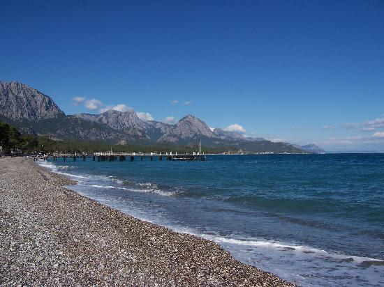 Barut Kemer : The Beach and view the hotel backs onto!