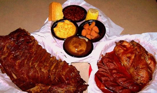 Ribs chicken links homemade side dishes picture of for Side dishes for bbq ribs and chicken
