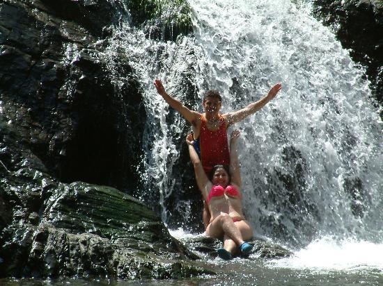 A visit to the Cascades via tourest guide located at Santa Marta Beach