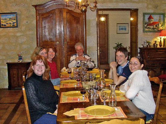 Aquitaine, Frankrig: great dinner at Le Moulin, St. Yzans
