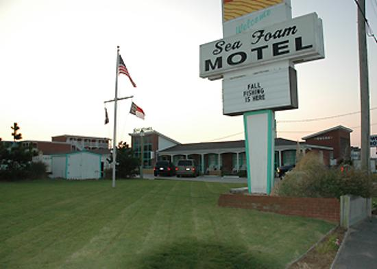 Sea Foam Motel: Sea Foam sign by road