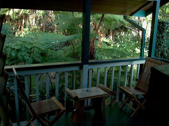 Chalet Kilauea: private lanai - Treehouse Suite