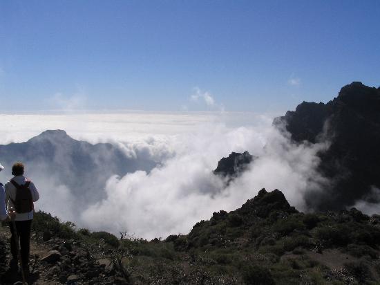 Caldera de Taburiente National Park: The mist slowly rising