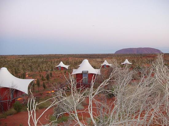 Longitude 131 : The view from the sand dunes to uluru.