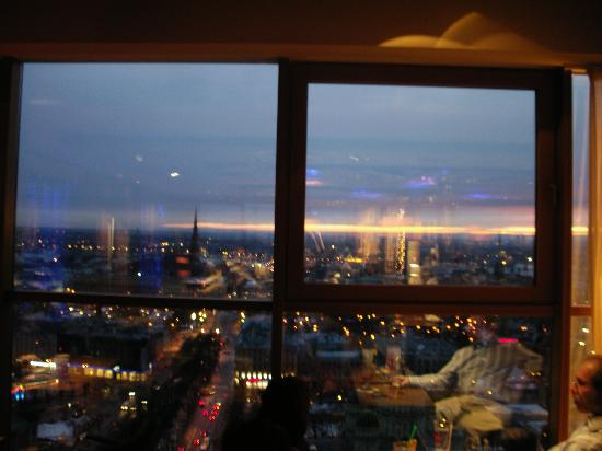 Europa Royale Riga: Sunset view from Reval Hotel's Skyline bar