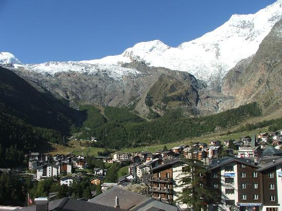 Saas-Fee, Schweiz: View from apartment