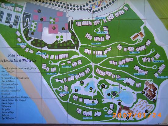 map of the resort Picture of Fuerteventura Princess Esquinzo