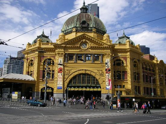 flinders st station picture of melbourne victoria. Black Bedroom Furniture Sets. Home Design Ideas