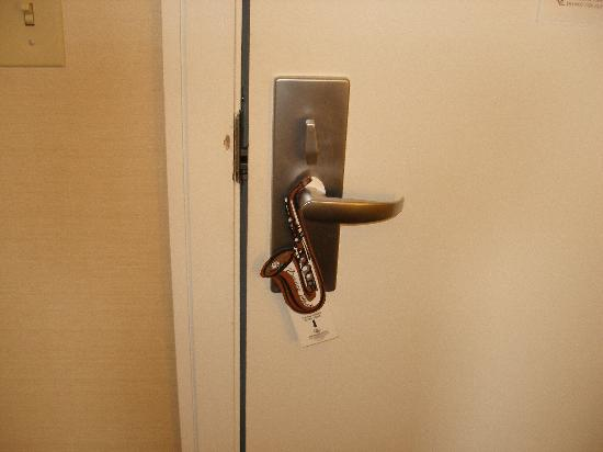 Renaissance New Orleans Pere Marquette French Quarter Area Hotel: Jazzy Privacy doorhanger