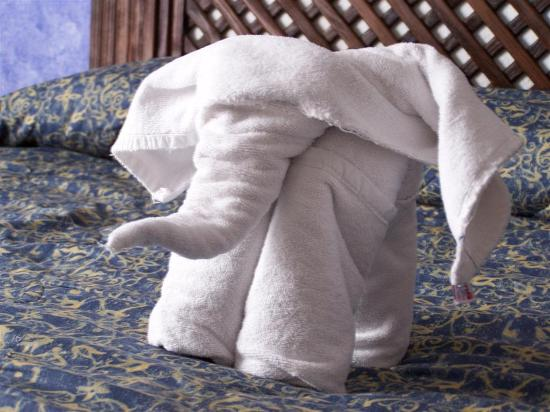 Hacienda Buenaventura Hotel & Mexican Charm All Inclusive: towels left on our bed