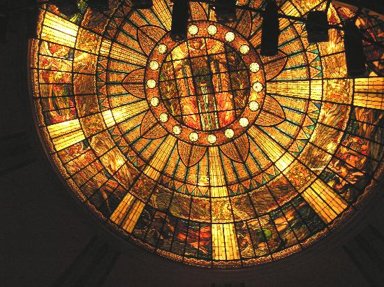Ballet Folklorico de Mexico: tiffany glass ceiling of theater