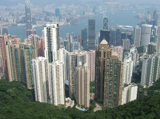 Hongkong, China: Panoramic view of Hong Kong
