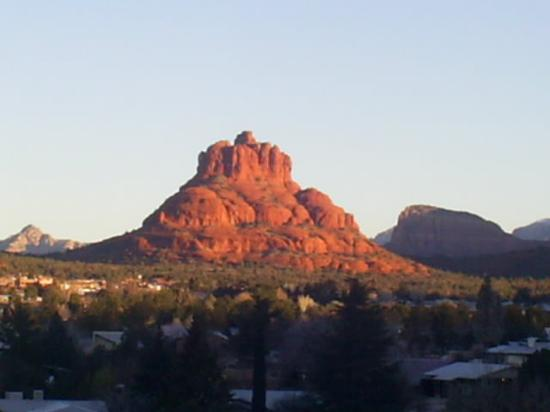 Sedona Dream Maker Bed & Breakfast: Bell Rock, also known as Tuctu, which the room is named after (viewed from observation deck)