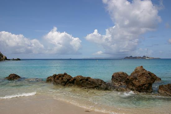 Colombier Beach: Rewarded with an empty beach
