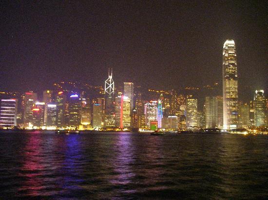 Laser show on Hong Kong Island