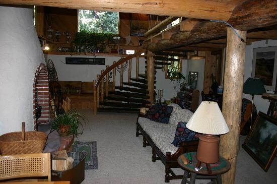 A Teton Tree House: Living Room