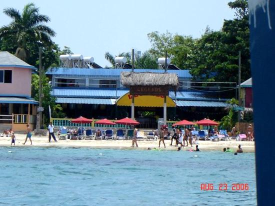 Legends Beach Hotel From A Glbottom Boat