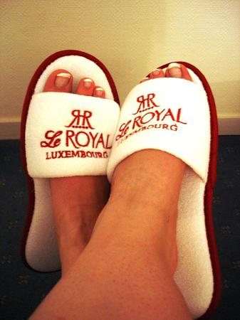 Le Royal Hotels & Resorts - Luxembourg: The groovy slippers