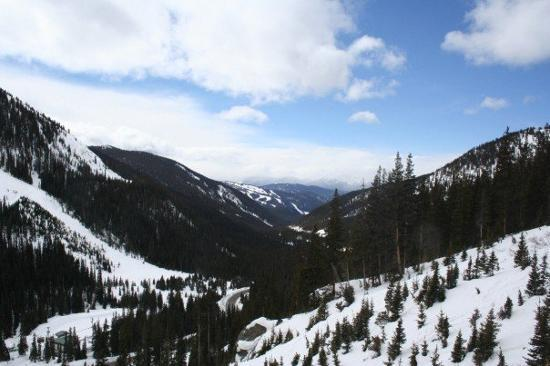 The view of Keystone from Loveland Pass (a must-see!)