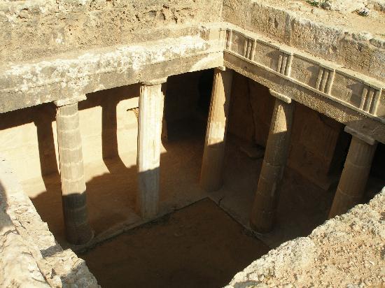 Paphos, Cyprus: An underground tomb