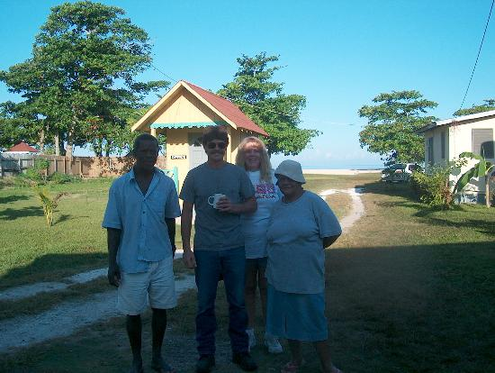 Ansell's Thatch Walk Cottages: us and staff