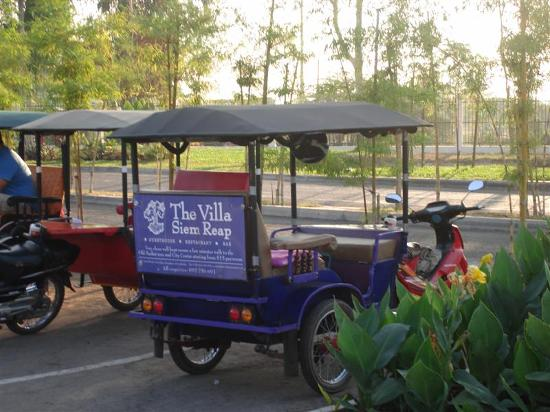 The Villa Siem Reap: Hotel Tuk-Tuk at Airport