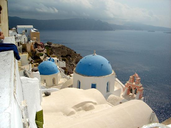 Санторини, Греция: Famous church scene - Oia, Santorini, Greece