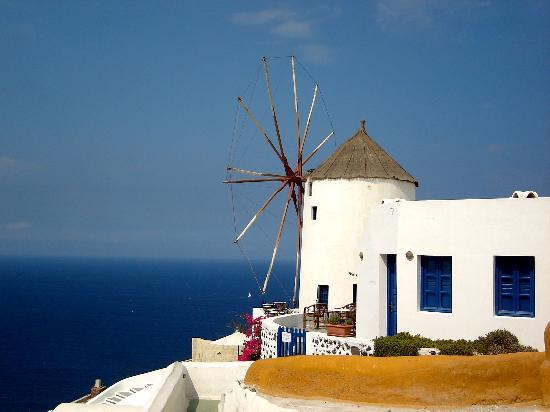 Санторини, Греция: Windmill - Oia, Santorini, Greece