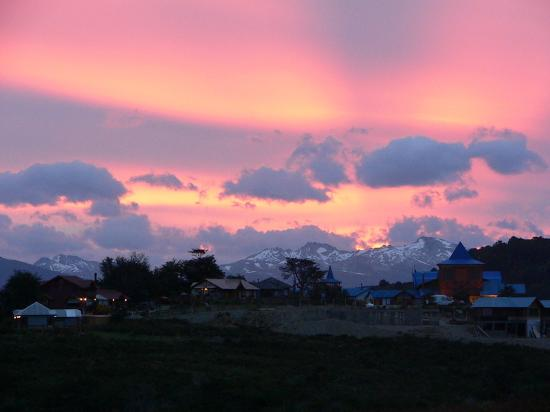 Aisen Region, Chili: Sunset at Ushuaia,Tierra del Fuego,Argentina