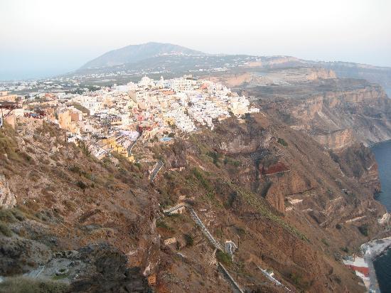 Santorin, Griechenland: caldera