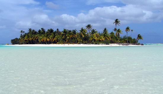 Aitutaki, Cookinseln: One Foot Island
