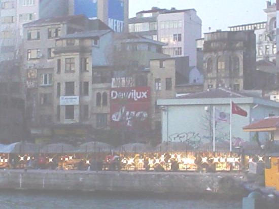 Istanbul, Turkey: the fish market from a distance