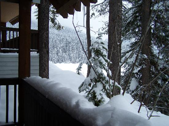 Emerald Lake Lodge: Balcony view