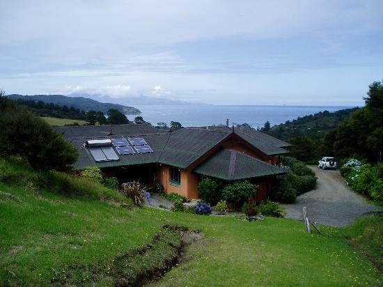 Earthsong Lodge: View from helipad