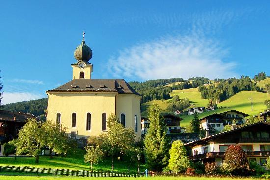 Saalbach-Hinterglemm, Áustria: Sallbach Church