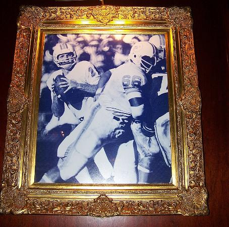 Shula's Steak House: One of the pictures in the restaurant