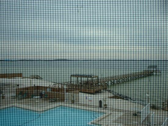 Soundside Holiday Beach Resort: View from the screened-in porch