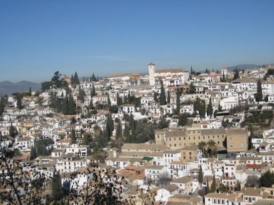 Granada, Spain: View of El Albaicín