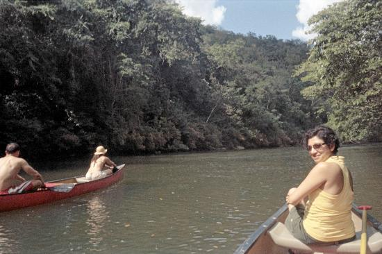 The Lodge at Chaa Creek: Paddling downstream to San Ignacio