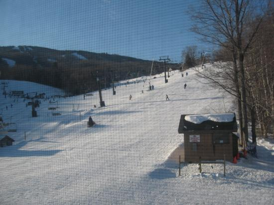 Mountain Lodge at Okemo: veiw from our condo, slopeside