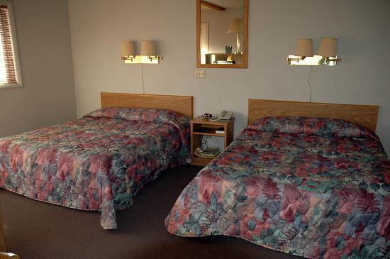 Yellowstone's Absaroka Lodge: The decor isn't fancy but the beds are clean and comfortable.