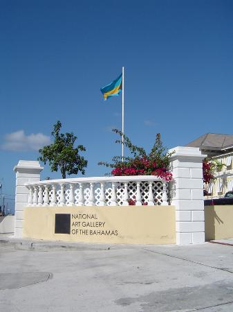 The National Art Gallery of The Bahamas: NAGB front entrance gates
