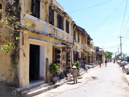 Hoi An, Vietnam: A typical street in the old part of town