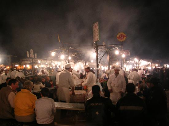 Riad Dar Anika: Main Square by night