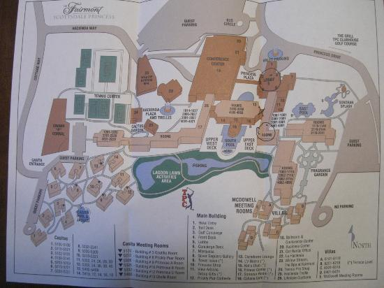 Map of the Grounds Picture of Fairmont Scottsdale Princess
