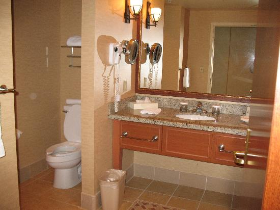 Spirit Mountain Casino Lodge: partial view of bathroom